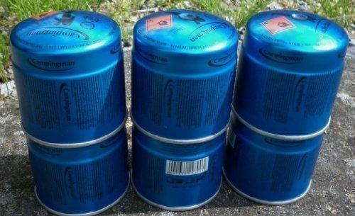 6 x Campingman 29699 Gaskartuschen Butangas Gas Kartuschen Stechkartusche 190g